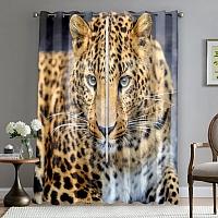 Фотошторы «Красивый леопард» вид 5
