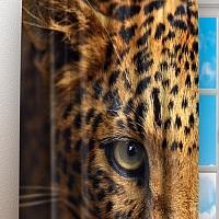 Фотошторы «Леопард портрет» вид 3