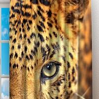Фотошторы «Леопард портрет» вид 2