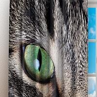 Фотошторы «Кошачий взгляд» вид 3