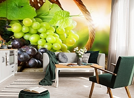 3D Фотообои  «Грозди винограда»  вид 7