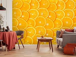 3D Фотообои  «Дольки апельсина»  вид 4