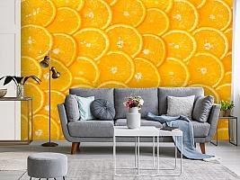 3D Фотообои  «Дольки апельсина»  вид 3