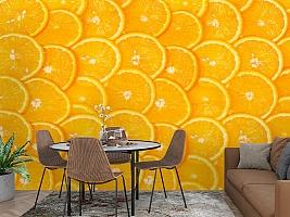 3D Фотообои  «Дольки апельсина»  вид 2