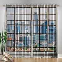 Фотошторы «Окна с панорамным видом на город» вид 4