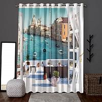 Фотошторы «Окно-балкон в Венеции» вид 6