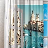 Фотошторы «Окно-балкон в Венеции» вид 3