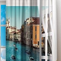 Фотошторы «Окно-балкон в Венеции» вид 2