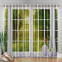 Фотошторы «Панорамное окно» вид 4