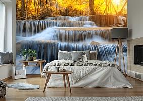 3D Фотообои  «Водопад на рассвете» вид 6