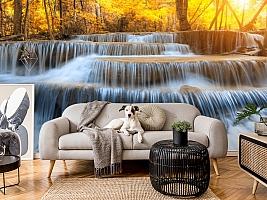 3D Фотообои  «Водопад на рассвете» вид 5