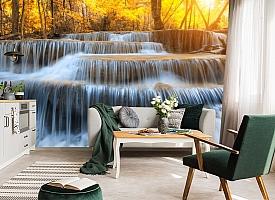 3D Фотообои  «Водопад на рассвете» вид 4