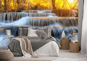 3D Фотообои  «Водопад на рассвете» вид 3