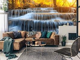 3D Фотообои  «Водопад на рассвете» вид 2