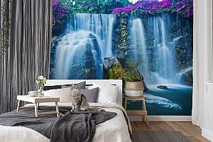 3D Фотообои  «Горный водопад»  вид 7