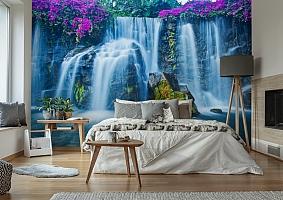 3D Фотообои  «Горный водопад»  вид 6