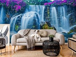 3D Фотообои  «Горный водопад»  вид 5
