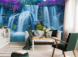 3D Фотообои  «Горный водопад»  вид 4