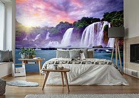 3D Фотообои  «Лазурный водопад» вид 6