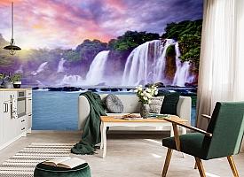 3D Фотообои  «Лазурный водопад» вид 4