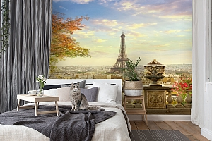 3D Фотообои  «Фреска Париж»  вид 7