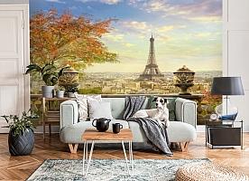 3D Фотообои  «Фреска Париж»  вид 6