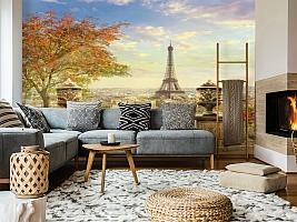3D Фотообои  «Фреска Париж»  вид 5