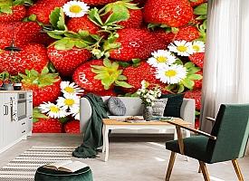 3D Фотообои  «Цветущая клубника»  вид 7