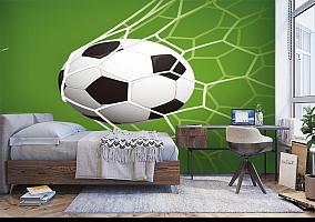 3D Фотообои «Мяч в сетке» вид 5