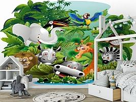 3D Фотообои «Тропическая живность» вид 6