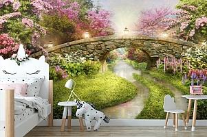 3D Фотообои «Сказочный мостик» вид 4