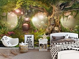 3D Фотообои «Лесные феи» вид 5