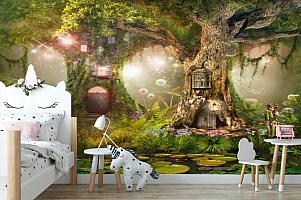 3D Фотообои «Лесные феи» вид 4