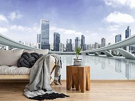 3D фотообои 3D Фотообои «Вид с крыши небоскреба» вид 12