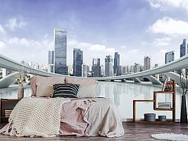 3D фотообои 3D Фотообои «Вид с крыши небоскреба» вид 13