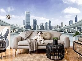3D фотообои 3D Фотообои «Вид с крыши небоскреба» вид 16