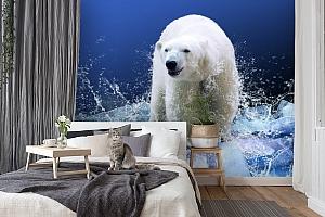 3D Фотообои «Белый медведь на льдине» вид 7