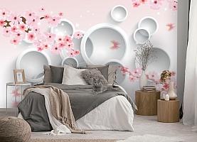 3D Фотообои  «Сакура в цвету»  вид 5
