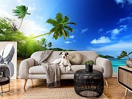 3D Фотообои  «Пальма на пляже»