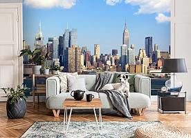 3D Фотообои  «С видом Нью-Йорка»  вид 3