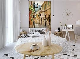 3D Фотообои  «Фреска итальянские улочки»  вид 3