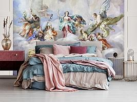 3D Фотообои  «Фреска ангелы»  вид 3