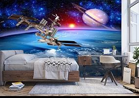 3D Фотообои  «Спутники»  вид 5