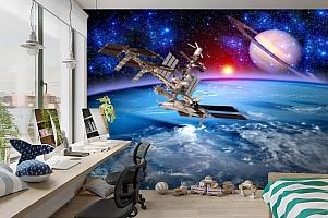 3D Фотообои  «Спутники»  вид 3