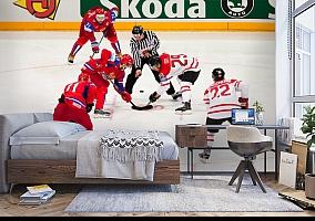 3D Фотообои  «Хоккей»  вид 5
