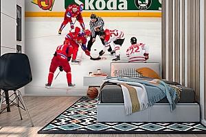3D Фотообои  «Хоккей»  вид 2