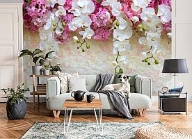 3D Фотообои «Ниспадающие орхидеи»