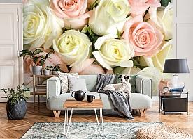 3D Фотообои «Салатово-розовые розы» вид 8
