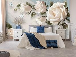 3D Фотообои «Винтажная композиция с розами»