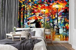 3D Фотообои  «Леонид Афремов. Дождь любви»